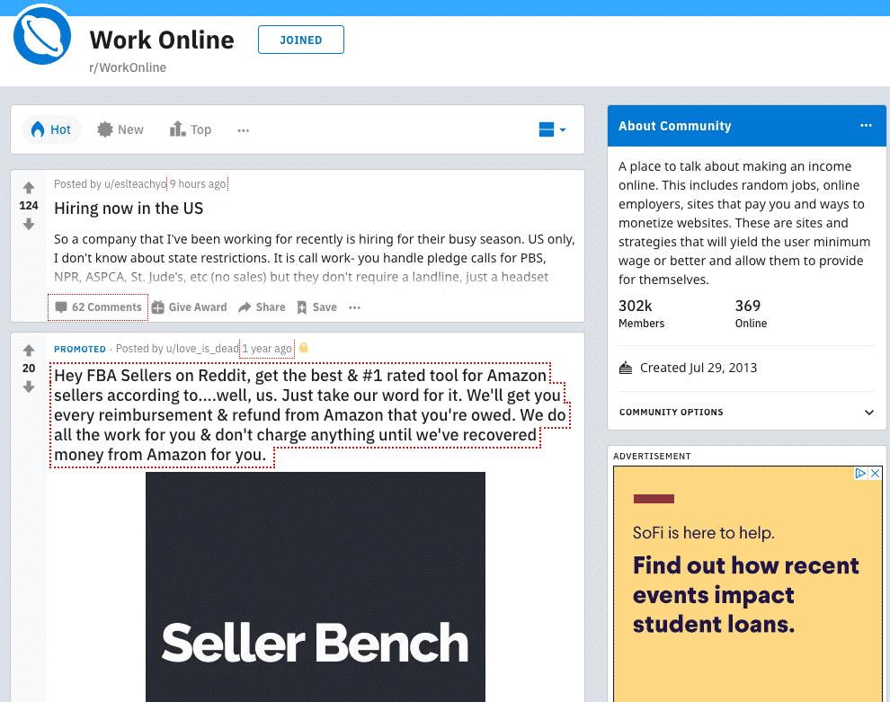 work online reddit