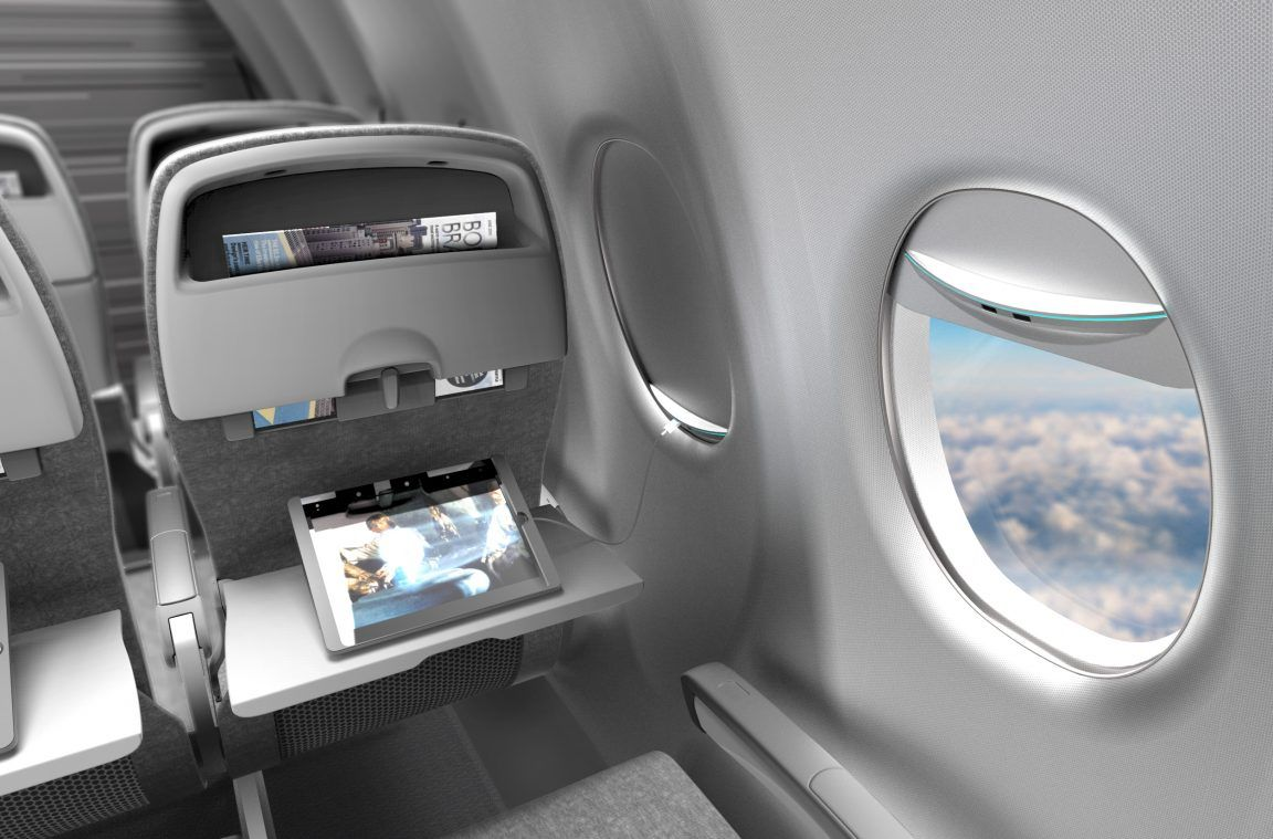Charge your phone or laptop on the plane